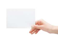 Empty business card Stock Image