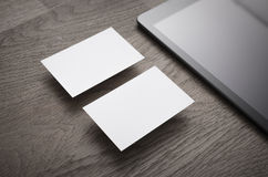 Empty business cards Stock Image