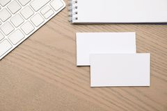 Empty business cards royalty free stock image