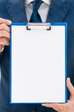 Empty business document Royalty Free Stock Photo