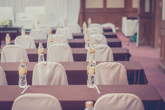 Empty business seminar hall of hotel room for asia people Stock Images