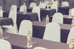 Empty business seminar hall of hotel room for asia people Stock Photo