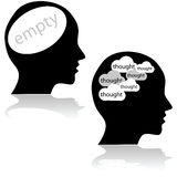 Empty and busy minds Royalty Free Stock Photography