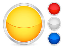Empty button Stock Image