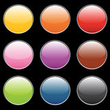 Empty buttons. Pink, orange, blue, green, red colors Stock Photo