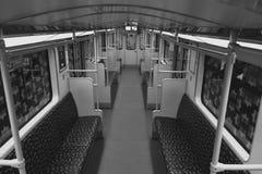 Empty BVG subway train U-Bahn / metro train in Berlin Stock Photo