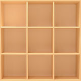 Empty cabinet, bookcase or bookshelf Royalty Free Stock Photos
