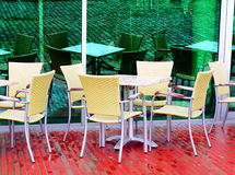 Empty cafe Royalty Free Stock Image
