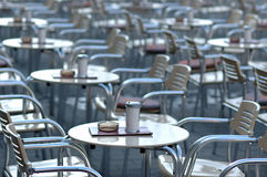 Empty cafe. In the morning stock images