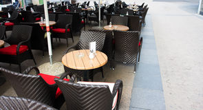 Empty cafe. In the street Royalty Free Stock Photo