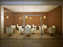 Empty cafe in contemporary design Stock Photography