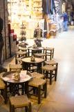 Empty cafe inside turkish market Royalty Free Stock Photography