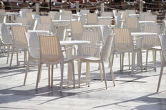 Empty cafe on a summer day, without guests Stock Image
