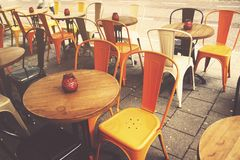 Empty cafe tables Stock Image