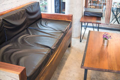 Empty cafe tables and chairs Royalty Free Stock Photos