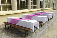 Empty cafe tables Royalty Free Stock Photography