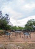 Empty cafe terrace. Royalty Free Stock Photo