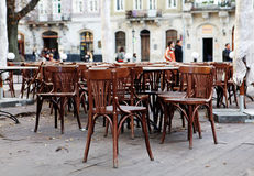 Empty cafeteria on the street Royalty Free Stock Photo