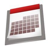 Empty calendar. Illustration of an empty calendar icon Royalty Free Stock Photo