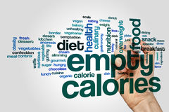 Empty calories word cloud Royalty Free Stock Images