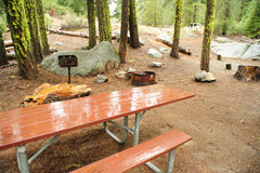 Empty Campground Royalty Free Stock Images