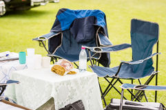 Empty camping seats Stock Images