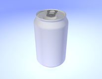 Empty can. Image of an blank empty can Stock Photography
