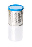Empty Can With Blue Lid II Stock Image