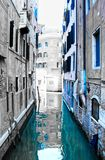 Empty Venice Canal in Blue Stock Photos