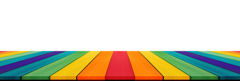 Empty candy rainbow color tabletop for display montage your prod Royalty Free Stock Image