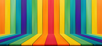 Empty candy rainbow color tabletop for display montage your prod Stock Images