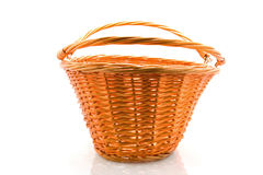 Empty cane basket Royalty Free Stock Images