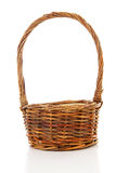 Empty cane basket Stock Photos