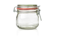 Empty canning jar Stock Images