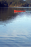 Empty canoe on lake Royalty Free Stock Image