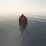 Empty canoe Royalty Free Stock Photography