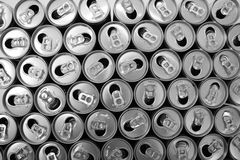 Empty cans Royalty Free Stock Images