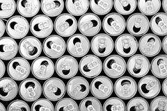 Empty cans background Royalty Free Stock Photography