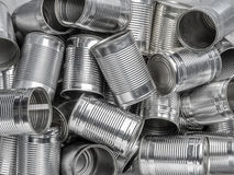 Empty cans Royalty Free Stock Photos