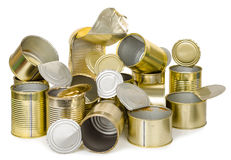 Empty cans Royalty Free Stock Photography