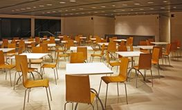 Empty canteen. Deserted canteen in a office building royalty free stock photography