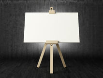 Empty canvas in dark room Royalty Free Stock Photo