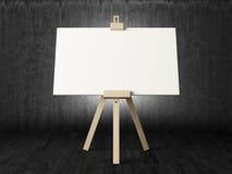 Empty canvas in dark room Royalty Free Stock Photo