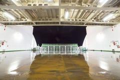 Empty car deck on a ferry Royalty Free Stock Photos