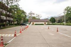 Empty car park . Stock Image