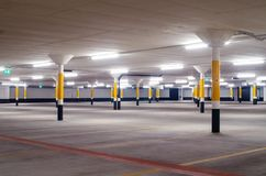 Empty car park floor stock photos