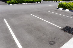 Empty car park royalty free stock photography