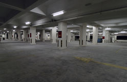Empty Car Park or parking lot Stock Images