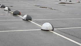 Empty car park. Road marking on the asphalted parking place Royalty Free Stock Images