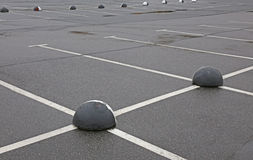 Empty car park Royalty Free Stock Images